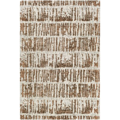 Lipson Hand-Tufted Beige/Brown Area Rug Rug Size: Rectangle 5 x 76