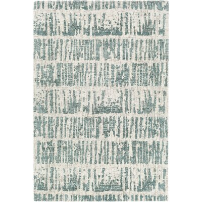 Lipson Hand-Tufted Beige/Green Area Rug Rug Size: Rectangle 5 x 76