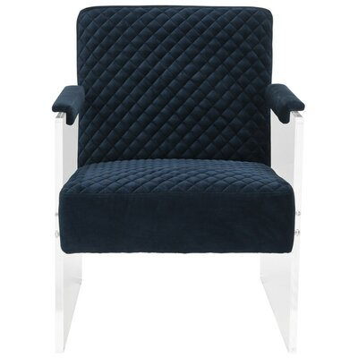 Brisbane Acrylic Armchair Color: Navy Blue