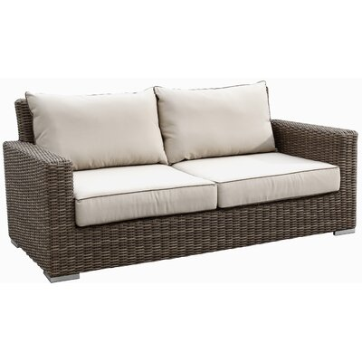 Hasler Loveseat with Cushions Fabric: Canvas Antique Beige