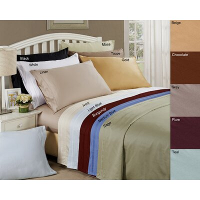 4-Piece Eva 650 Thread Count Egyptian Cotton Deep Pocket Sheet Set
