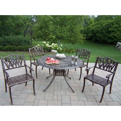Farrior 5 Piece Dining Set Finish: Antique Bronze