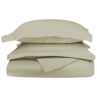 Backwell Egyptian-Quality Cotton Duvet Set Size: Full/Queen, Color: Sage