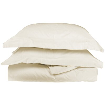 Backwell Egyptian-Quality Cotton Duvet Set Color: Ivory, Size: Twin