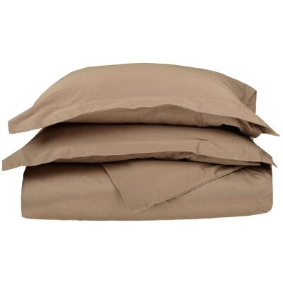 Backwell Egyptian-Quality Cotton Duvet Set Color: Taupe, Size: Twin