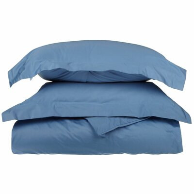 Backwell Egyptian-Quality Cotton Duvet Set Color: Medium Blue, Size: Twin