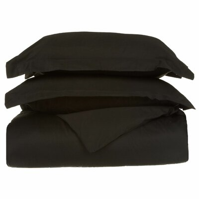 Backwell Egyptian-Quality Cotton Duvet Set Color: Black, Size: King/Cal.King