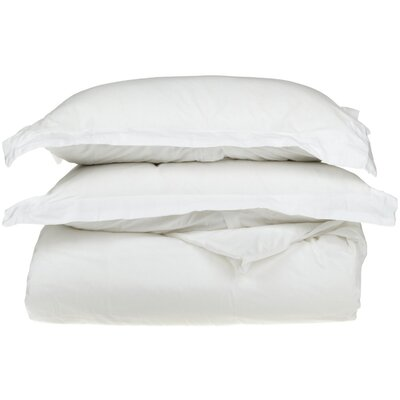 Backwell Egyptian-Quality Cotton Duvet Set Color: White, Size: Twin