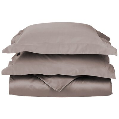 Backwell Egyptian-Quality Cotton Duvet Set Size: Twin, Color: Grey