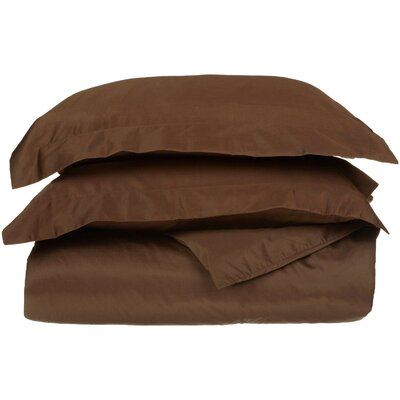 Backwell Egyptian-Quality Cotton Duvet Set Size: Full/Queen, Color: Chocolate