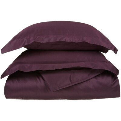 Backwell Egyptian-Quality Cotton Duvet Set Size: Full/Queen, Color: Plum