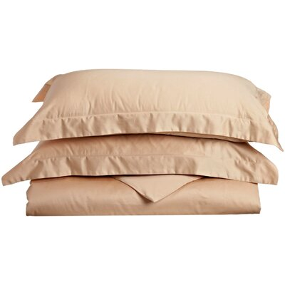 Backwell Egyptian-Quality Cotton Duvet Set Size: Twin, Color: Beige