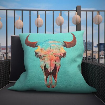 Cracraft Outdoor Throw Pillow Size: 16 H x 16 W x 4 D