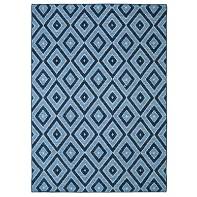 Solomon Blue Area Rug Rug Size: Rectangle 5 x 8