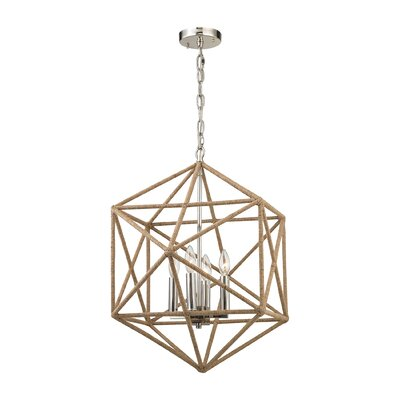 Reticuli 4-Light Geometric Pendant