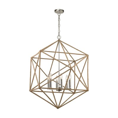 Reticuli 6-Light Geometric Pendant