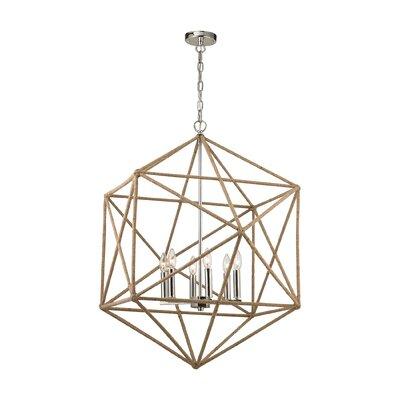 Reticuli 6-Light Geometric Pendant