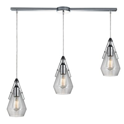 Second Avenue 3-Light Kitchen Island Pendant Finish: Polished Chrome
