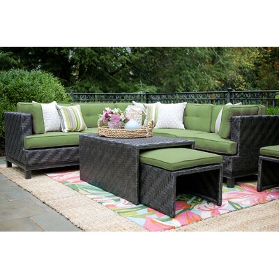 Laforce 8 Pieces Deep Seating Group with Cushion Finish: Spectrum Cilantro