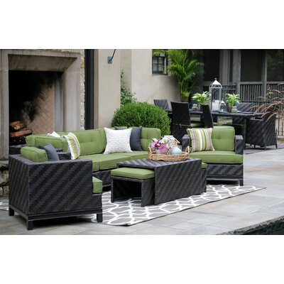 Laforce 8 Pieces Deep Seating Group with Cushion Finish: Cast Ash