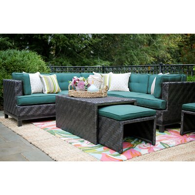 Laforce 8 Pieces Deep Seating Group with Cushion Finish: Spectrum Peacock