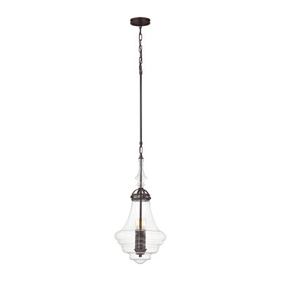 Manzo 1-Light Schoolhouse Pendant Finish: Weathered Zinc