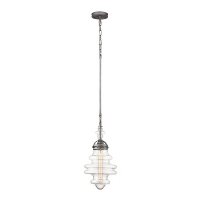 Manzo 1-Light Schoolhouse Pendant Finish: Polished Nickel