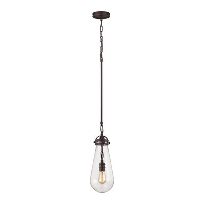 Manzo 1-Light Mini Pendant Finish: Oil Rubbed Bronze