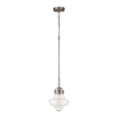 Manzo 1-Light Schoolhouse Pendant