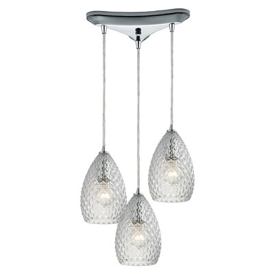 Ormes 3-Light Kitchen Island Pendant