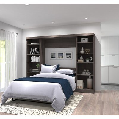 Walley Full/Double Murphy Bed Color: Bark Gray
