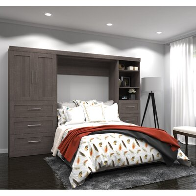 Walley Full/Double Murphy Bed Finish: Bark Gray
