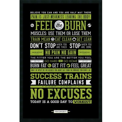 Gym - Motivational Framed Textual Art