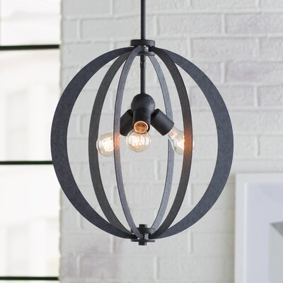 Knott 3-Light Globe Pendant