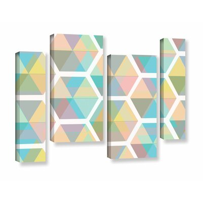 Hive 4 Piece Graphic Art on Wrapped Canvas Set Size: 24