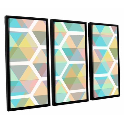 Hive 3 Piece Framed Graphic Art on Canvas Set Size: 24
