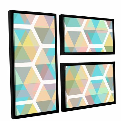 Hive 3 Piece Framed Graphic Art on Canvas Set