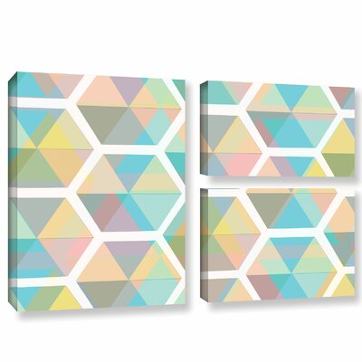 Hive 3 Piece Graphic Art on Wrapped Canvas Set