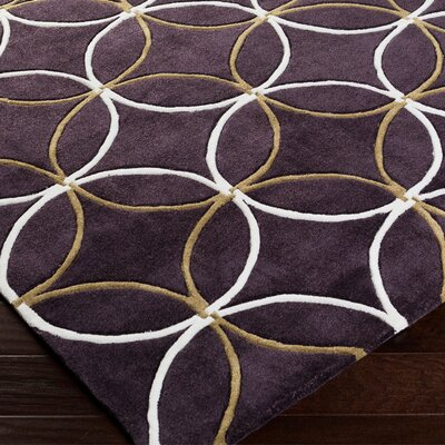 Kelch Aubergine Rug Rug Size: Rectangle 9 x 13
