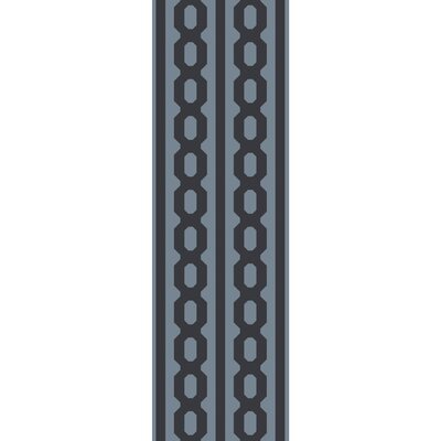 Herring Hand Hooked Wool Denim/Black Area Rug Rug size: Runner 26 x 8