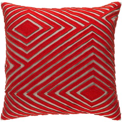 Rieder Cotton Throw Pillow Size: 22 H x 22 W x 4 D, Color: Bright Orange/Camel