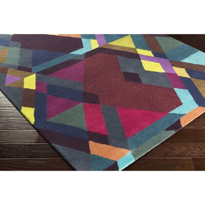 Donalson Hand-Tufted Purple/Red Area Rug Rug Size: Rectangle 2 x 3