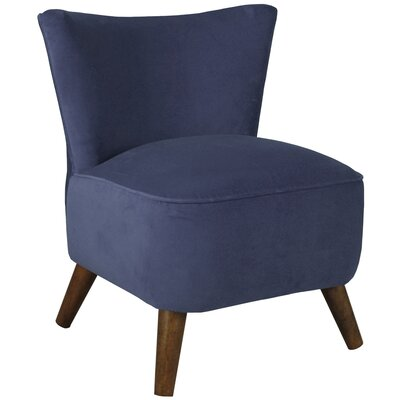 Rodolfo Upholstered Slipper Chair Color: Navy