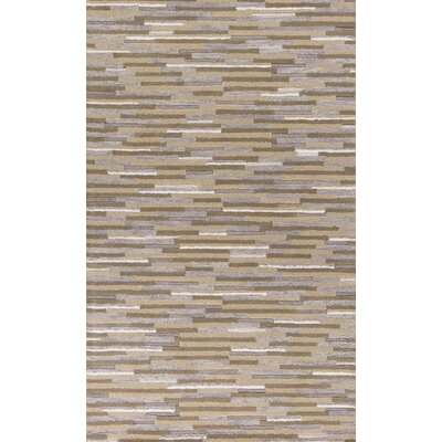 Forsyth Road Hand-Tufted Beige/Gray Area Rug Rug Size: 86 x 116