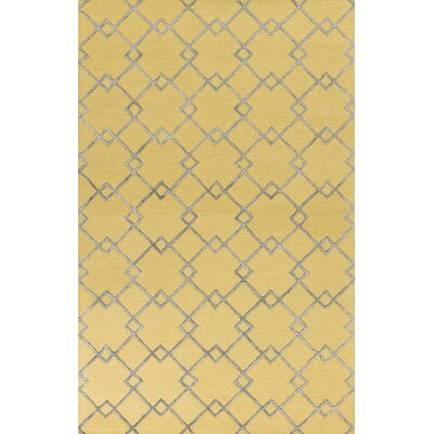 Frankie Hand-Tufted Gold/Gray Area Rug Rug Size: 33 x 53