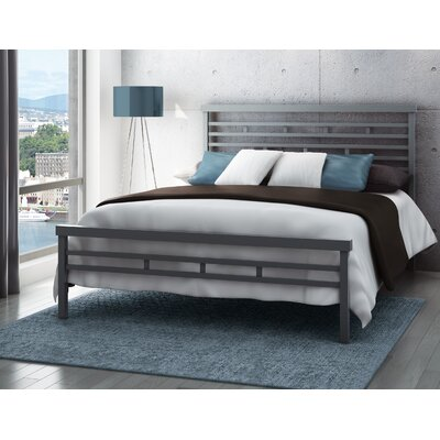 Fobbs Open-Frame Headboard Finish: Glossy Grey, Size: Full