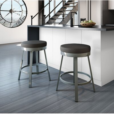 Dealba 30 Swivel Bar Stool Finish: Glossy Grey/Matte Charcoal Black