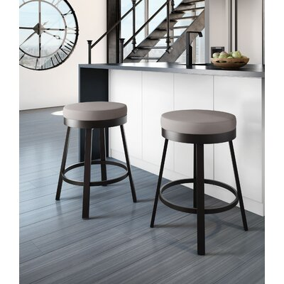 Dealba 30 Swivel Bar Stool Finish: Textured Dark Brown/Warm Grey