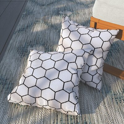 Duran Honey Comb Outdoor Throw Pillow Size: 16 H x 16 W x 4 D