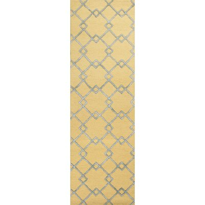 Frankie Hand-Tufted Gold/Gray Area Rug Rug Size: Runner 23 x 76